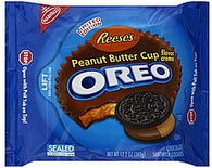 Oreo Cookies Sandwich, Chocolate, Reese's Peanut Butter Cup Flavor Creme, 12.2 oz