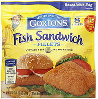 Gortons Fish Sandwich Fillets , 8 ea