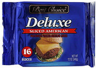 Best Choice Cheese Deluxe, Sliced American, 16 ea