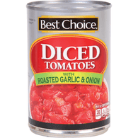 Best Choice Diced Tomatoes Rsted Garlic & Onion