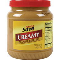 Always Save Peanut Butter Creamy