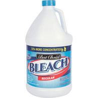 BEST CHOICE CONCENTRATED BLEACH REGULAR, 121 oz