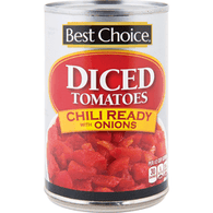 Best Choice Diced Tomatoes W/Onions For Chili