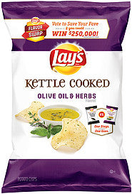 Lay's Potato Chips Flavor Swap Kettle Cooked Olive Oil & Herbs, 8 Oz