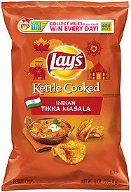 Lay's Potato Chips Kettle Cooked Indian Tikka Masala, 8 Oz