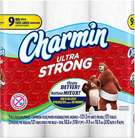 Charmin Toilet Paper Ultra Strong Big Rolls, 9.0 Ct