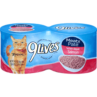 9 Lives Cat Food, with Real Salmon, Meaty Pate