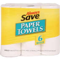 Always Save 6 Roll Paper Towels