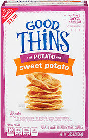 Nabisco Good Thins Snacks Potato Sweet Potato, 3.75 Oz