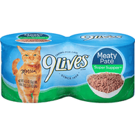 9 Lives Cat Food, Super Supper, Meaty Pate