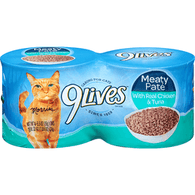9 Lives Cat Food, with Real Chicken & Tuna, Meaty Pate