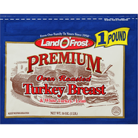 Land O Frost Premium Turkey Breast & White Turkey, Oven Roasted