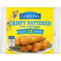 Gortons Fish Portions, Crispy Battered, Value 12 Pack