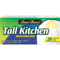 Best Choice Draw String Tall Kitchen Trash Bag