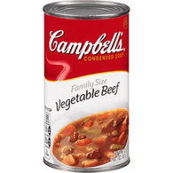 Campbell's Family Size Condensed Soup, Vegetable Beef