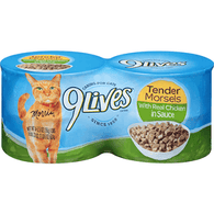 9 Lives Cat Food, with Real Chicken in Sauce, Tender Morsels