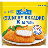 Gortons Fish Fillets, Crunchy Breaded
