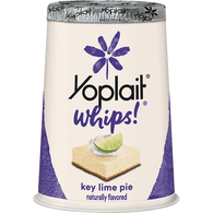 Yoplait Whips! Light & Fluffy Texture Key Lime Pie Flavored Lowfat Yogurt Mousse