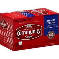 Community Coffee, Medium-Dark Roast, House Blend, K-Cup Pods
