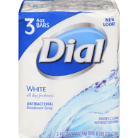 Dial All Day Freshness White Antibacterial Deodorant Soap