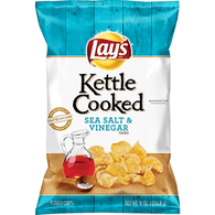 Lays Kettle Cooked Potato Chips, Sea Salt & Vinegar Flavored
