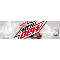 Diet Mountain Dew Code Red, 12 Pack Cans