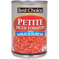 Best Choice Petite Diced Tomatoes W/Garlic & Olive Oil