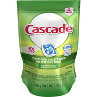 Cascade Dishwasher Detergent, Fresh Scent, Action Pacs