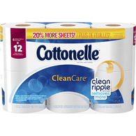 Cottonelle Clean Care Toilet Paper, Double Roll, 1-Ply