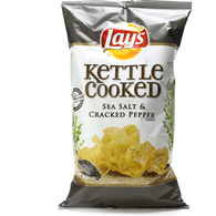Lays Kettle Cooked Potato Chips, Sea Salt & Cracked Pepper Flavored
