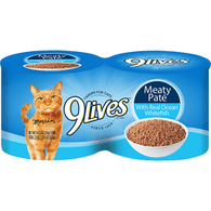 9 Lives Cat Food, with Real Ocean Whitefish, Meaty Pate