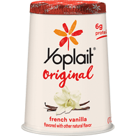 Yoplait Original 99% Fat Free French Vanilla Flavored Yogurt