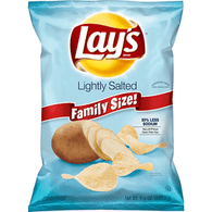 Lays Potato Chips, Lightly Salted, Family Size!