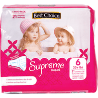 Best Choice Supreme Jumbo Diapers Size 6