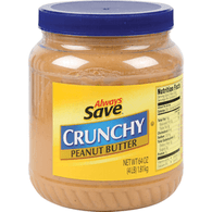 Always Save Peanut Butter Crunchy