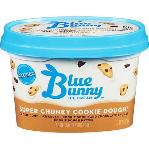 Blue Bunny Super Chunky Cookie Dough Premium Ice Cream Cup Mo Central