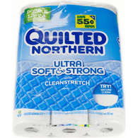 Quilted Northern Ultra Soft & Strong Bathroom Tissue, Double Rolls, Unscented, 2-Ply