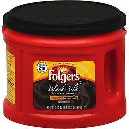 Folgers Coffee, Ground, Dark, Black Silk