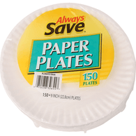 Always Save Paper Plates 9 Inch