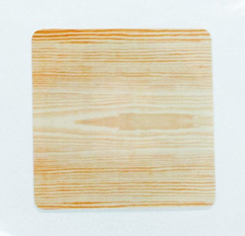 6 Woodgrain Pattern NFC Tag Stickers 25mm (1 inch) Square - 888 Bytes NTAG216, Compatible with all NFC-capable phones