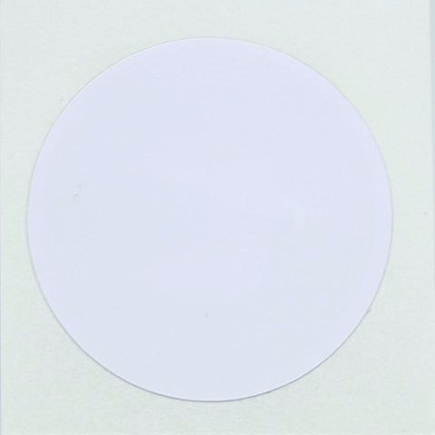 10 White NFC Tag Stickers 25mm (1 inch) Round - 888 Bytes