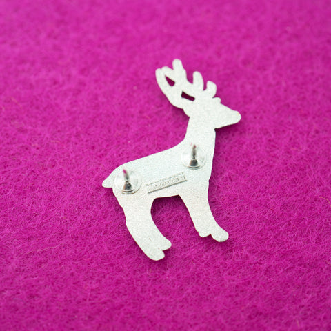 Brilliant Silver Deer Venison Butcher Cuts Diagram Hard Enamel Lapel Pin Wiring Digital Resources Hetepmognl