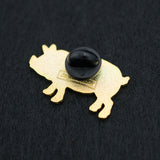 Pig Butcher Cuts Diagram Hard Enamel Lapel Pin