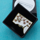 DC Cherry Blossoms Hard Enamel Lapel Pin