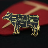 Cow Butcher Cuts Diagram Hard Enamel Lapel Pin