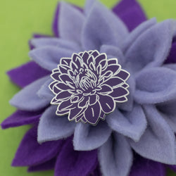 Dahlia Flower Hard Enamel Pin