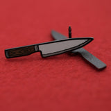 Chefs Knife Hard Enamel Lapel Pin