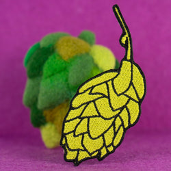 Beer Hops Embroidered Iron-on Patch