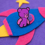 Teddy Bear Sarah Hard Enamel Pin (Begin Industries x Ken Ives)