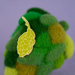 Beer Hops Hard Enamel Lapel Pin